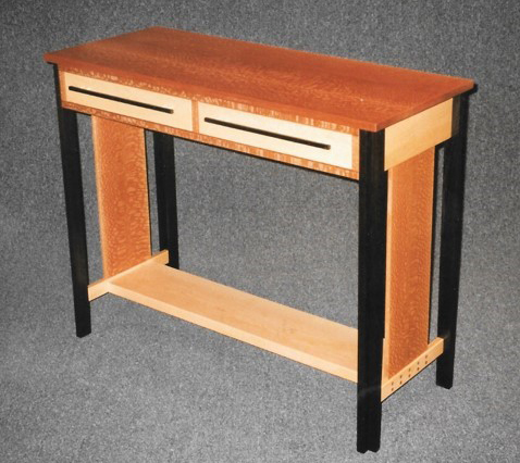 Two Drawer Side Table Image